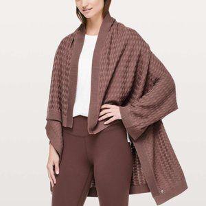 Lululemon Divinity Poncho Sweater Spanish Oak